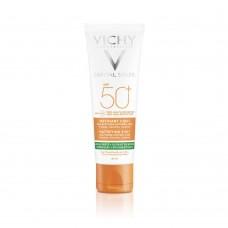 VICHY CAPITAL SOLEIL Матирующий уход для проблемной кожи 3-в-1 SPF50+, 50 мл