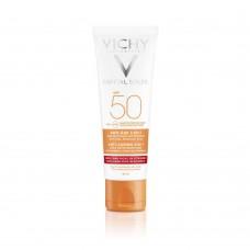 Vichy Capital Ideal Soleil антивозрастной уход 3 в 1 с антиоксидантами SPF50, 50 мл