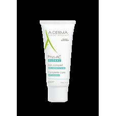 A-Derma PHYS-AC GLOBOL крем для кожи склонной к акне 40 мл