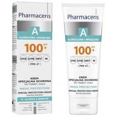 Pharmaceris A Крем защитный для лица и тела для взрослых и детей MEDI PROTECTION SPF 100+ 75 мл